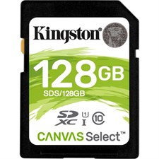 Kingston 128GB Canvas Select UHS-I SDXC Memory Card
