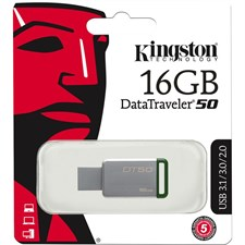 Kingston 16GB Datatraveler DT50 USB 3.0 Flash Drive