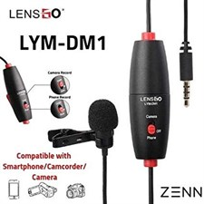 LENSGO LYM-DM1 Mini Omni-directional Lavalier Video Condenser Microphone