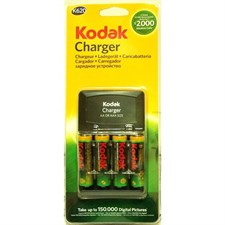 Kodak AA Rechargeable NiMh Finger Batteries 4(pcs) With AA/AAA Charger K620