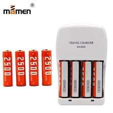 Mamen NI MH AA Battery 2500mAh x4pcs Rechargeable Batteries 4pcs AA Battery Charger Universal 4pcs C