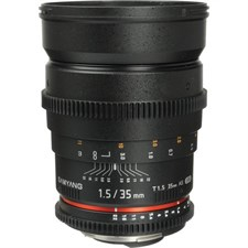 Samyang 35mm T1.5 VDSLRII Cine Lens for Nikon F Mount